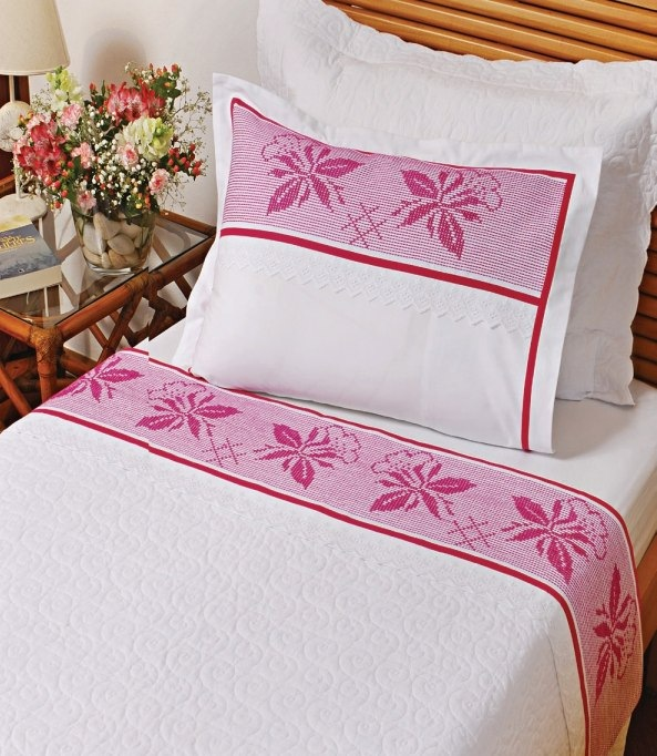 Вышивка на постельном белье схема 447