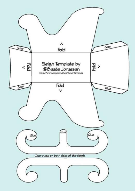 Как сделать санки для куклы из картона своими руками