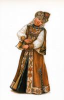 Русский костюм в открытках 333