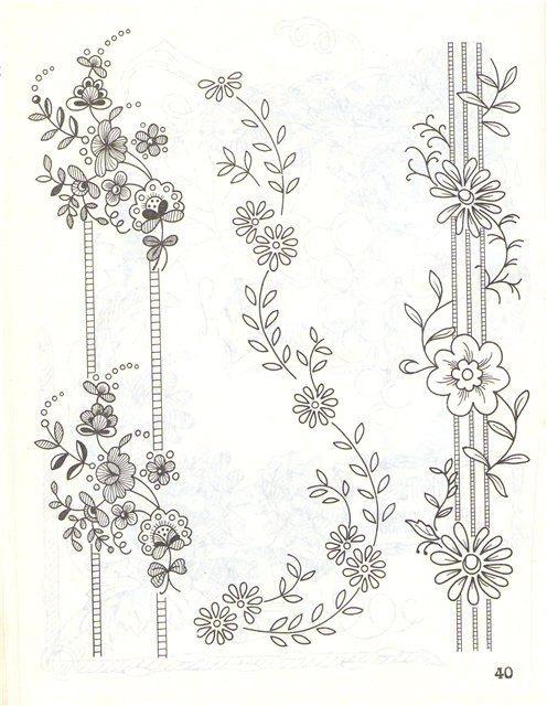 Машинная вышивка схемы и узоры 56