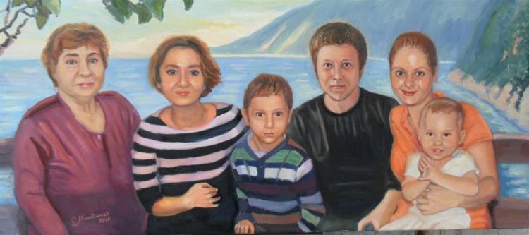 Заказать семейный портрет по фотографии