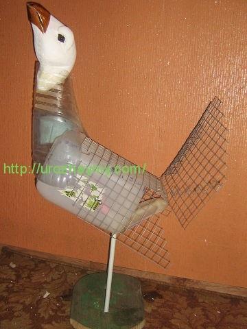 Птицы из пластиковых бутылок с пошаговой инструкцией