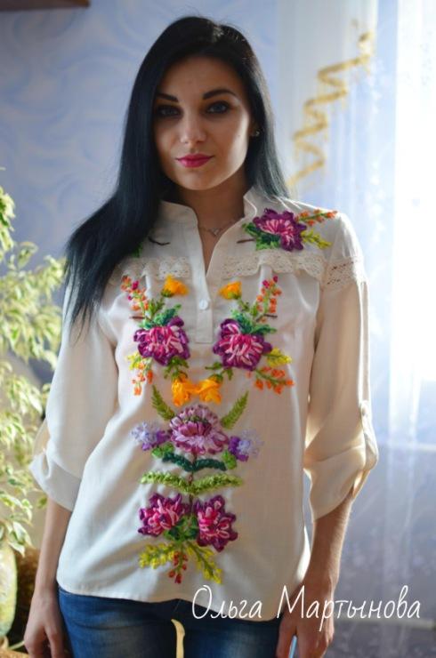 Блузка вышивка лентами 41