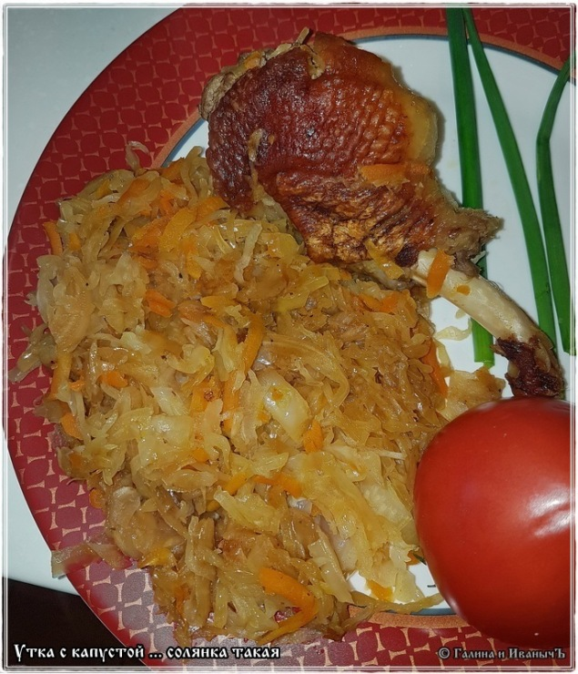 Утка с капустой в духовке пошаговый рецепт с