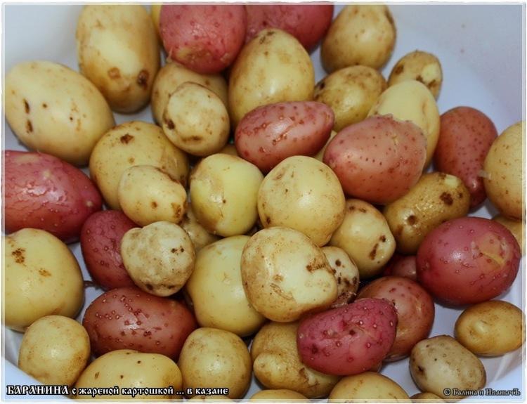 Баранина с жареной картошкой … в казане