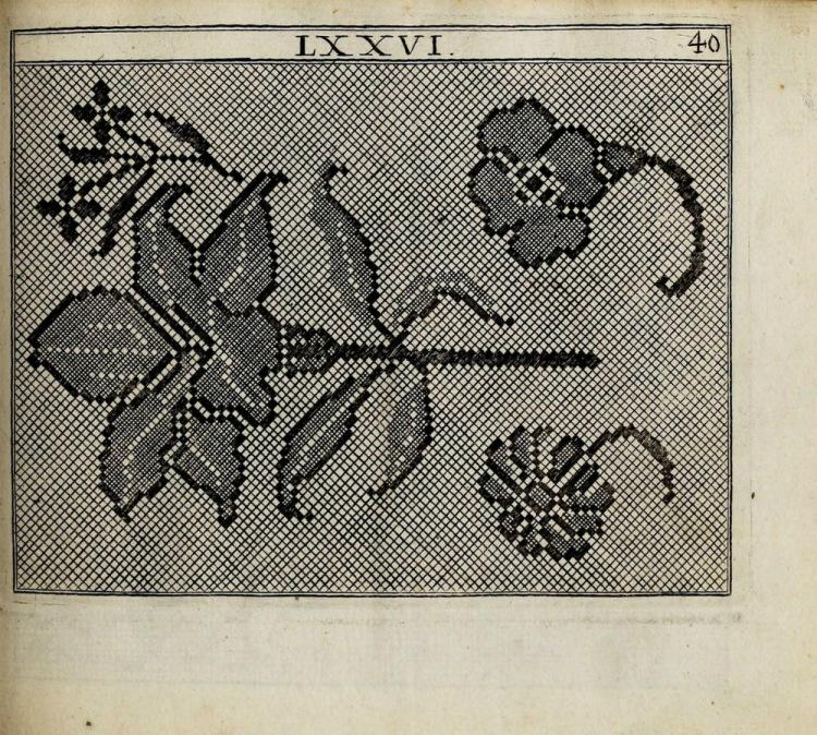 Немецкая старинная вышивка