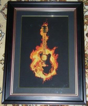 Огненная гитара схема для вышивки 71