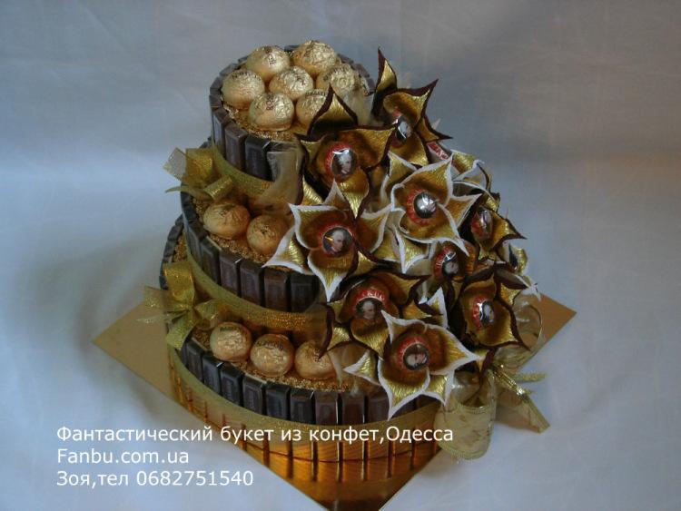 Тортик из конфет фото