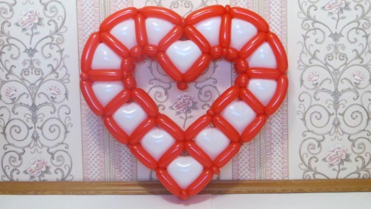 Сердце из шариков своими руками без каркаса - Naturapura.ru