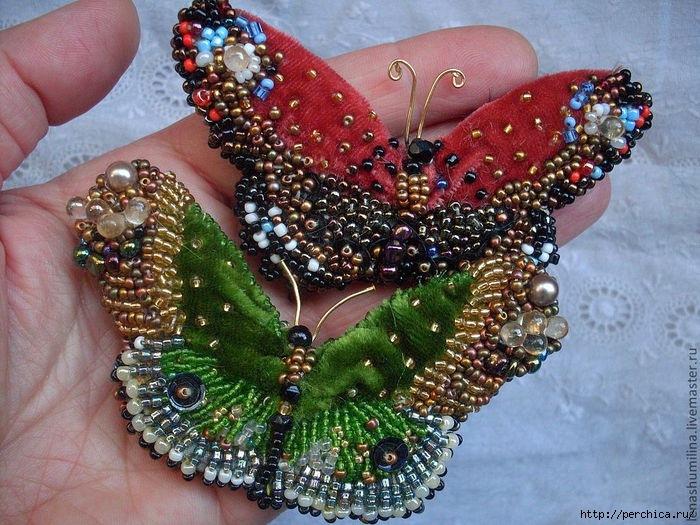 Бабочка из камней своими руками