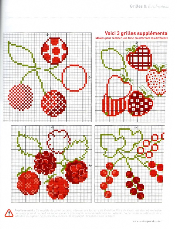 Ягоды схемы для вышивок
