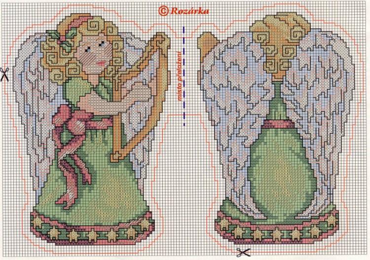 Схема для вышивки крестом щелкунчик