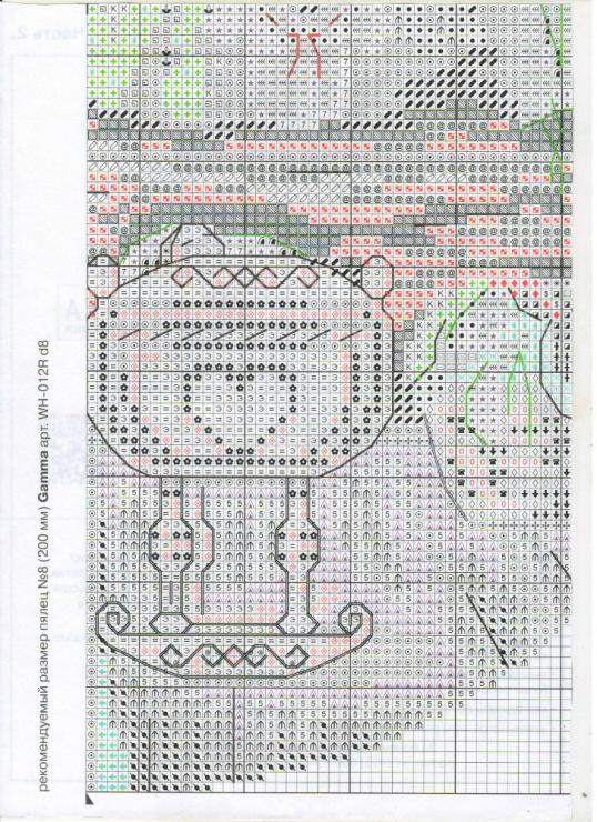 Схема вышивки домовой в семье покой 15