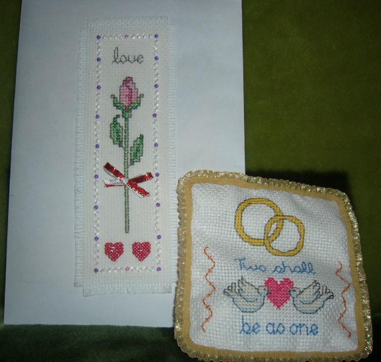 Кольцо с вышивкой крестом 86