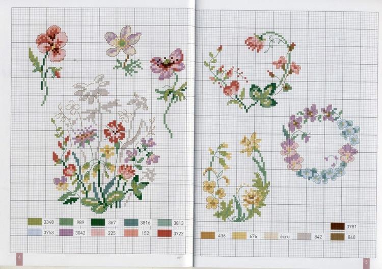 Вышивка крестом животные и цветы