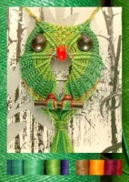 Макраме сова фото и схемы плетения панно