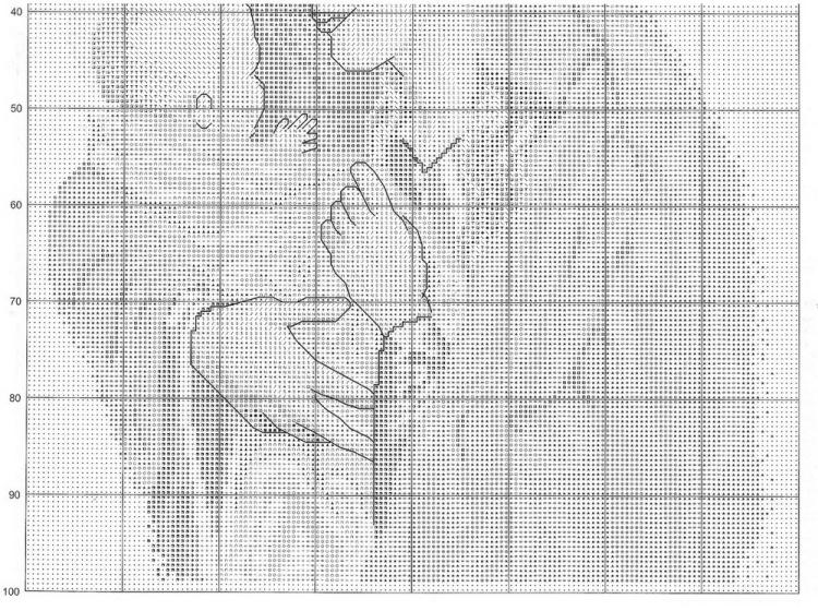 Схема Мадонна с ангелами вышивка крестиком 7