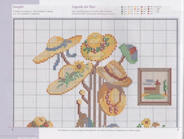 Вышивка крестом зонтик с цветами схемы 23