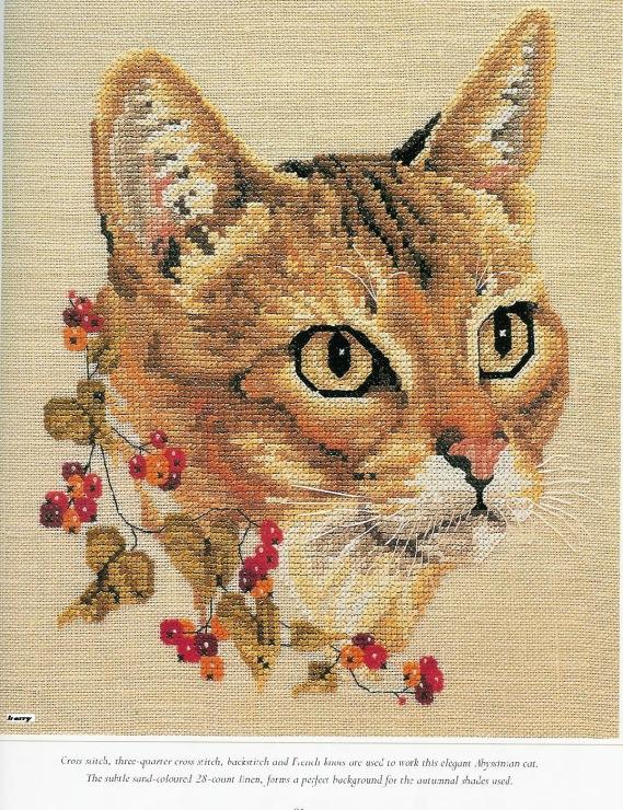 Схемы вышивки кошек 75