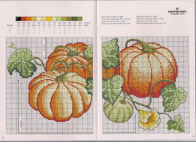 Схемы вышивки крестом фрукты овощи 29