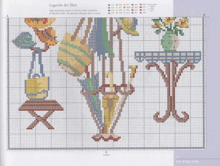 Вышивка крестом зонтик с цветами схемы 84