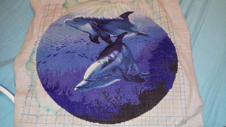 Вышивки для детей. Дельфин, рисунки для вышивки крестом 31