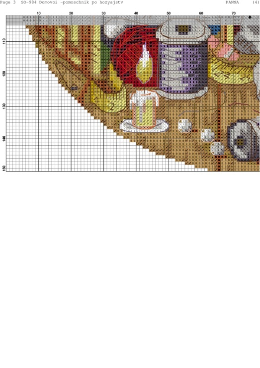 Схемы вышивки крестом домовёнка 694