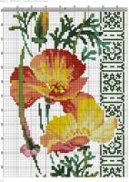 Схема вышивки калифорнийский мак риолис