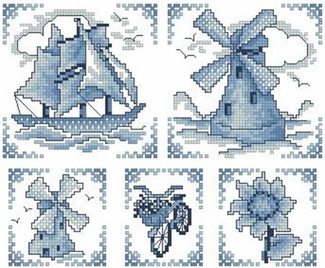 Схема вышивки крестом голландия 71