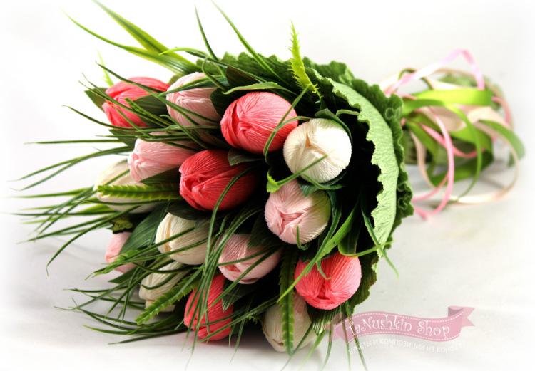 Букеты из конфет своими руками тюльпаны фото