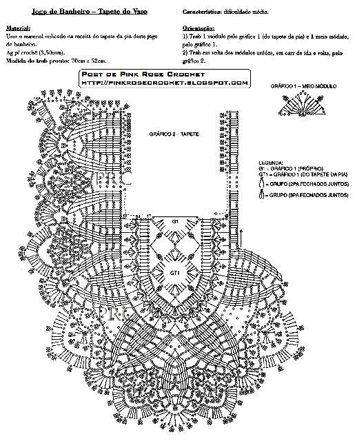 Коврики со схемами и описанием