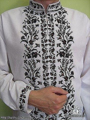Фото схем чоловічих вишиванок