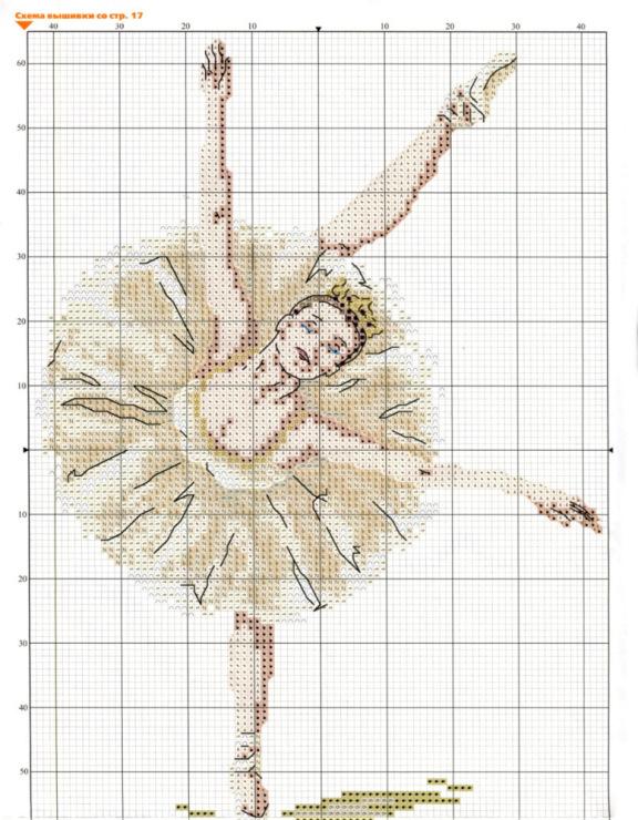 Схемы балерин вышивок крестом 92