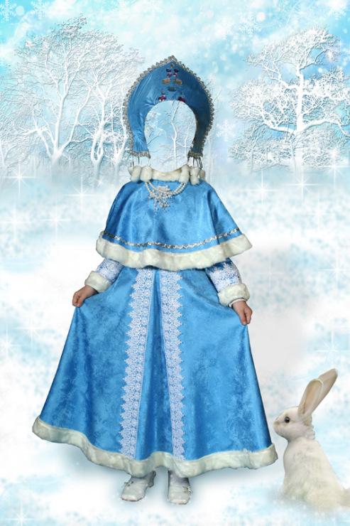 Шаблон для фотошопа рядом со снегурочкой
