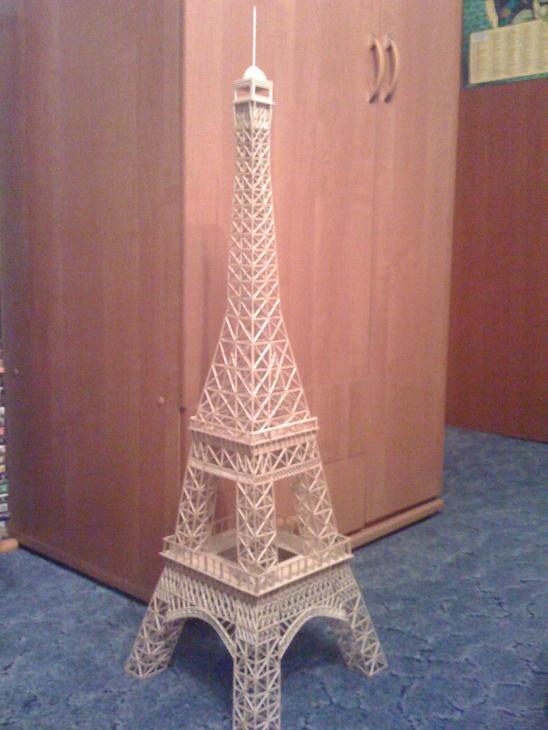 Как сделать эйфелева башню из спичек