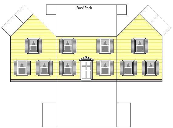 Схемы макеты домов из бумаги своими руками